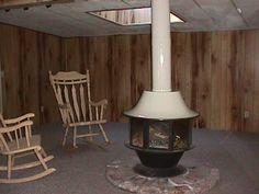 Vintage Round Fireplace