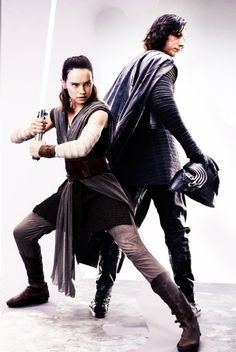 Rey and Kylo.