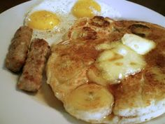 I want to try these Banana pancakes (maybe add a teaspoon of vanilla) and try and locate some coconut syrup to go with!