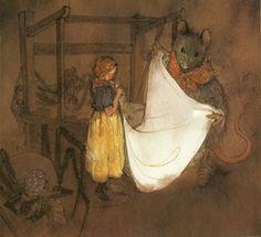 çizgili masallar: Thumbelina by Lisbeth Zwerger