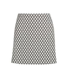 White Leather-Look Cut Out Mini Skirt