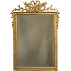 """""""French Hunt"""" Gold Mirror 28x38.5 ($1,075) ❤ liked on Polyvore"""
