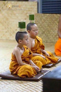 Sun monk in meditation practice.