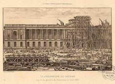 This Day in History: Nov 8, 1793: Louvre Museum opens http://dingeengoete.blogspot.com/ http://hoocher.com/Louis_XIV/Construction_Louvre.jpg