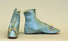 Shoes 1850, French, Made of silk, linen, and leather