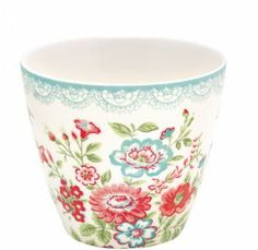 GreenGate Stoneware Latte Cup Wendy White (Spring/Summer 2011)