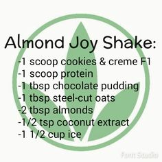 Almond Joy Herbalife shake