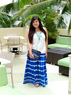 #plussize #fashion #ootd  Curvy Girl Chic Plus Size Fashion Blog | Beach Chic with Thread and Butter Tie Dye Skirt