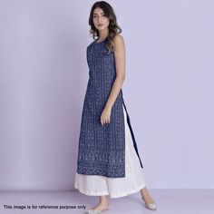Buy Demanding Navy Blue Colored Partywear Embroidered Cotton Palazzo Suit at Rs. Get latest Party wear suit for womens at Peachmode. Stylish Dresses For Girls, Stylish Dress Designs, Nice Dresses, Stylish Kurtis Design, Dress Indian Style, Indian Dresses, Indian Outfits, Pakistani Dresses, Pakistani Bridal