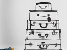 Die Koffer sind gepackt by #Tapetenagentur