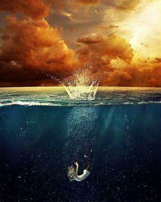 I just like it.... #art #girl #sea #intothedeep