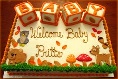 Woodland Animal Baby Shower Cake -