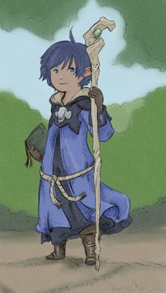 """Morin"" the young adventurer, done by Diyne. More of Diyne's work can be found here http://www.tale-ffxiv.com/boards/topic/692-diynes-dandy-doodles/"