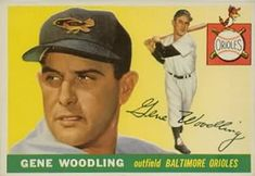 1955 Topps #190 Gene Woodling Front