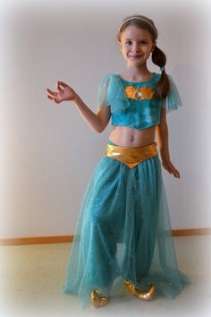 Princess Jasmine kids DIY  costume