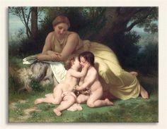 William Adolphe Bouguereau, Çocuklarını Sevgiyle Seyreden Anne, Tarih: 1861