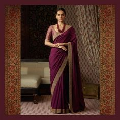 Classic Indian Sari Click Visit link to see Sabyasachi Sarees, Georgette Sarees, Indian Sarees, Georgette Saree Party Wear, Party Wear Sarees, Silk Sarees, Indian Dresses, Indian Outfits, Dresses Dresses