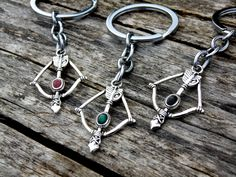 Set of 3 Arrow Keychains - silver tone by AChicFairytale on Etsy