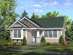 Craftsman Cottage House Plan: 936 sq ft