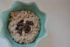 Peanut butter chocolate chip overnight oats