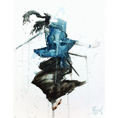 Samurai Champloo Gene Watercolor Painting 11 by PascualProductions, $15.00