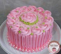 ideas cake decoration pink buttercream frosting for 2019 Cake Decorating Designs, Cake Decorating Videos, Cake Decorating Techniques, Cake Designs, Cupcakes Design, Buttercream Flower Cake, Cake Icing, Cupcake Cakes, Buttercream Frosting