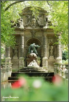 Fontaine de Medicis. Where: Jardin du Luxembourg (it is quite hidden, on the right-hand side of the Senate when facing the building from the garden).