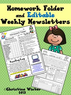 Do you need an instant homework folder and editable newsletter? Included in this pack is an organized expectation cover page (**editable version too**), a sight word dictionary, perfect printing reference cards (both handwriting and D'Nealian), homework passes, and a 120 number chart.
