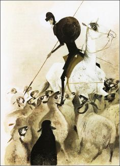 60s don quixote illustration