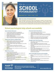 Who Are School Psychologists