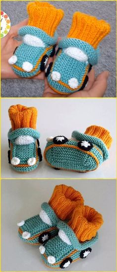 The New Ones: Knit Auto Baby Booties Free Pattern Video - Knit House . The New Ones: Knit Auto Baby Booties Free Pattern Video - Knit Slippers Booties Free Patterns, Baby Knitting Patterns, Knitting For Kids, Knitting Socks, Baby Patterns, Free Knitting, Knitting Projects, Doll Patterns, Baby Slippers, Knitted Slippers