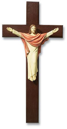 Risen Christ Wooden Wall Cross
