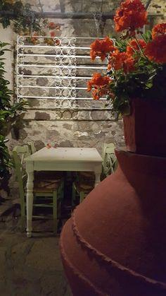 Lesbos - Petra - Kalderimi garden restaurant by Esbee