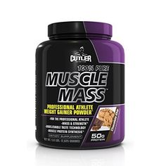 Cutler Nutrition 100% Pure Muscle Mass Professional Athlete Weight Gainer Powder, Chocolate Chip, 5.8-Pound by BPI Sports