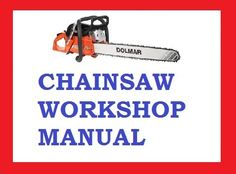 DOLMAR CHAINSAW PS-6400 PS-6400 PS SERIES WORKSHOP SERVICE REPAIR MANUAL PDF DOWNLOAD Repair Manuals, Outdoor Power Equipment, Ps, Workshop, Atelier, Garden Tools, Photo Manipulation