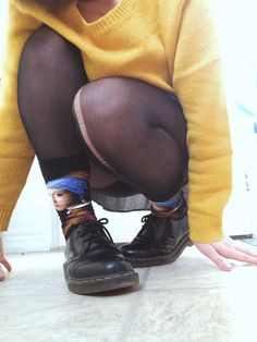 Hey let's talk about my socks Grunge Fashion, 90s Fashion, Lolita Fashion, Womens Fashion, Dr. Martens, Mode Style, Style Me, Cyberpunk, Rockabilly