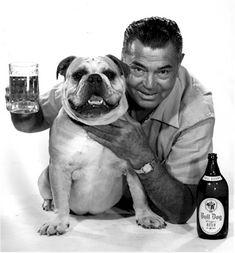 Jack Dempsey for Bull Dog beer.