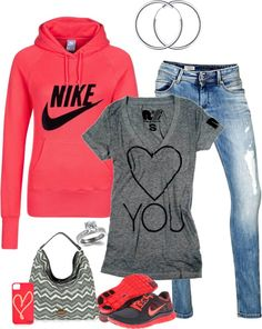 """Saturday Morning Grocery Shopping"" by denise-cooper on Polyvore love that sweatshirt!"