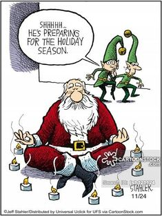 Believe it or not, you can beat the blues with yoga! Yoga is a great mood enhancer that requires no drugs or medications. Christmas Jokes, Christmas Cartoons, Christmas Crafts, Christmas Rock, Xmas, Christmas Time, Merry Christmas, Funny Cartoons, Funny Comics