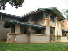 Frank Lloyd Wright. Dana-Thomas House. Springfield, Illinois. 1904