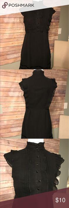Black ruffle mock neck dress Black ruffle mock neck dress Dresses