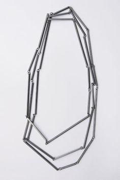 CLAUDE SCHMITZ-LUXEMBOURG - necklace Shake It, patinated silver - L 200 cm