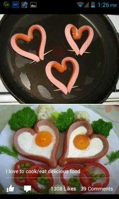 Valentine breakfast.
