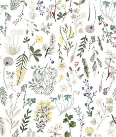 Illustrator Sara Boccaccini Meadows takes illustration to another level, hand crafting a whole intricate universe of flowers, plants, people and cities. Flower Sketch Pencil, Watercolor Pans, Wrapping Paper Design, Large Painting, Pattern Illustration, Pattern Wallpaper, Book Design, Print Patterns, Graphic Patterns