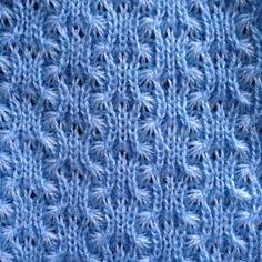 Knit Swatches by Ellen van den Andel. Day 47: Tuck Stitch. #knit #knitter…