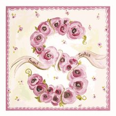 Nursery -Wall Art-Oopsy Daisy Canvas Wall Art Sweet Roses -|Find|Buy|Shop|Compare|LollipopMoon.com only $108.00 - Art For Girls