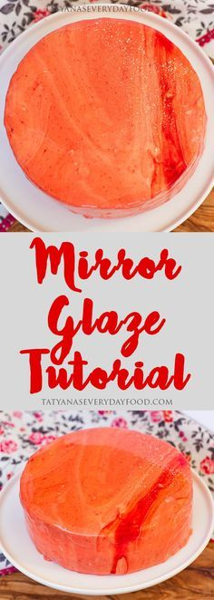 The newest, trendiest way to garnish a cake - the mirror glaze! In my step-by-step video tutorial, I'll show you how you can recreate this amazing finish at home. View Recipe Link Mirror Glaze Tutorial