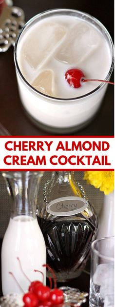 This delightful Cherry Almond Cream mixed drink tastes astounding! It's somewhat sweet with a great taste mix of fruits and almonds. Serve it for early lunch engaging, mixed drink hour, or as an after supper drink. Cherry Vodka Drinks, Mixed Drinks Alcohol, Drinks Alcohol Recipes, Cocktail Drinks, Vodka Alcohol, Drink Recipes, Cream Tea, Summer Mixed Drinks, Cocktails