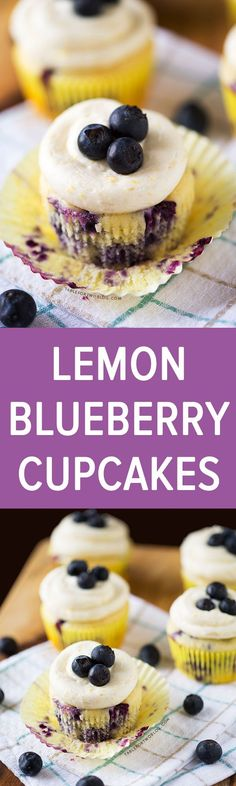 Lemon Blueberry Cupcakes | www.tablefortwobl...