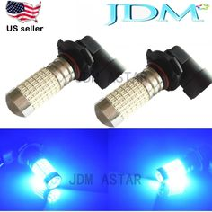 JDM ASTAR 144 SMD H10 9145 Blue Super Bright LED Daytime Running Fog Light Bulbs #JDMASTAR